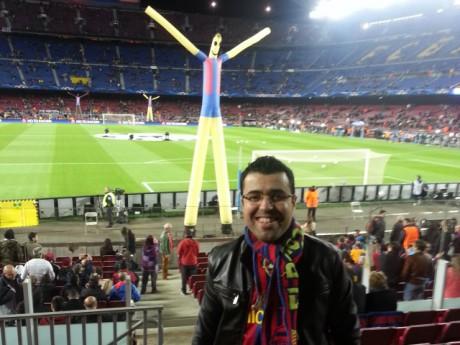 Les membres de la penya lyonnaise font parfois le déplacement au Camp Nou - DR FC Blaugrana