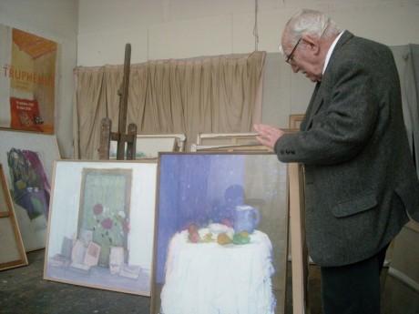 Jacques Truphémus dans son atelier - DR