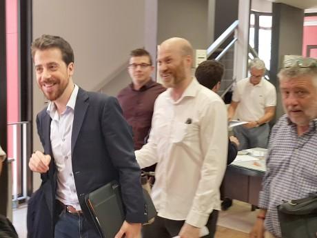 Jonathan Bocquet, à gauche, chargé de présider le parti - LyonMag