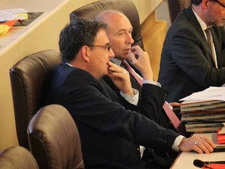 Gérard Collomb et son 1er vice-président au Grand Lyon - LyonMag