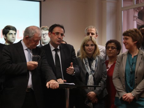 David Kimelfeld lors de son arrivée à la tête du PS du Rhône - LyonMag.com