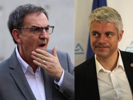 David Kimelfeld et Laurent Wauquiez - Montage LyonMag
