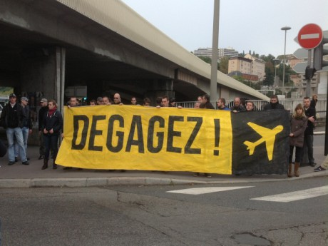 Les manifestants ce samedi matin - LyonMag.com
