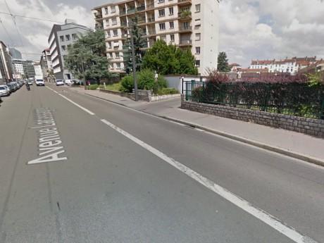 C'est sur l'avenue Lacassagne que l'accident s'est produit - DR Google Street View