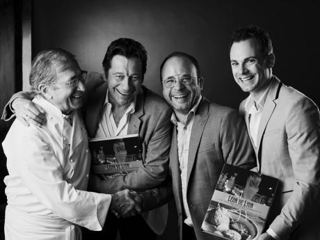 Jean-Paul Lacombe, Laurent Gerra, Fabien Chalard et Julien Géliot - DR
