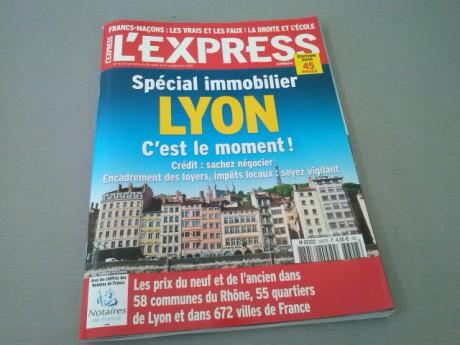 La une de l'Express sur l'immobilier à Lyon - LyonMag