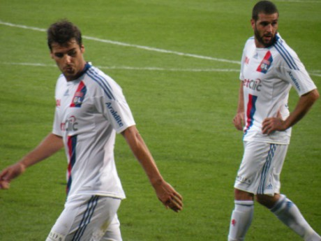 Yoann Gourcuff et LIsandro au Stade de Gerland - Photo Lyonmag.com