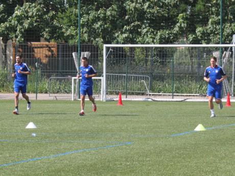 Hugo Lloris, Anthony Reveillère et Kim Kallström à l'entrainement lundi matin - Photo Lyonmag.com