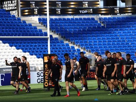 Les joueurs du LOU Rugby à l'entraînement ce jeudi - LyonMag