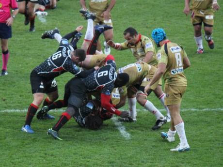 Le LOU Rugby lors de sa rencontre la semaine dernière face à Oyonnax - LyonMag.com