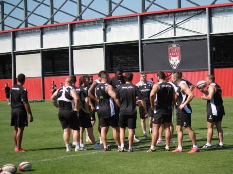 Les joueurs du LOU à l'entraînement ce matin - LyonMag