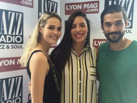 Zaho (au centre) avec Camille Lou et Florent Mothe - LyonMag