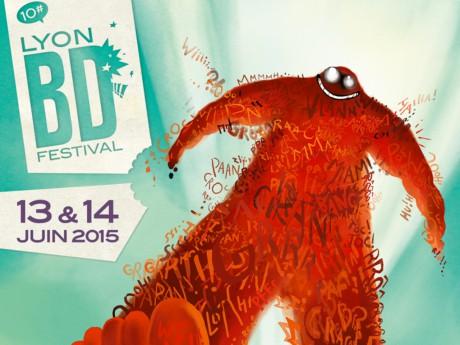 Affiche du Lyon BD Festival 2015 - LyonMag