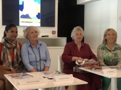 Marie-Sophie Obama et Nathalie Pradines (à gauche) en charge de la première édition - Lyonmag.com