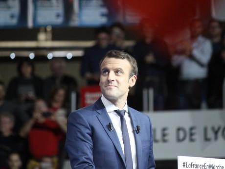 Emmanuel Macron lors d'un meeting à Lyon - LyonMag