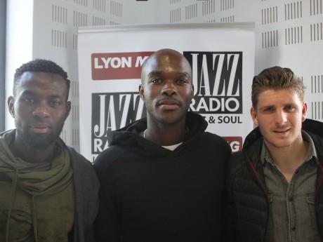 Kelly Youga, entouré de Malick Korodowou et Grégoire Viricel - LyonMag