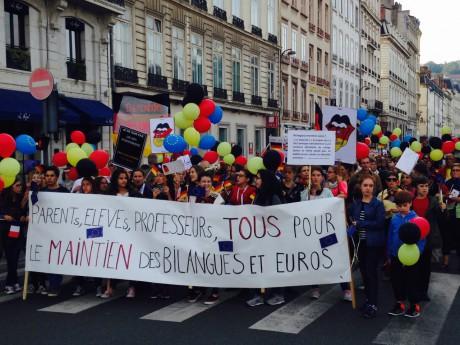 400 professeurs d'allemand ont manifesté ce samedi matin - LyonMag