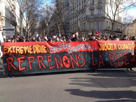 Le départ des manifestants dans le quartier de la Guillotière - LyonMag