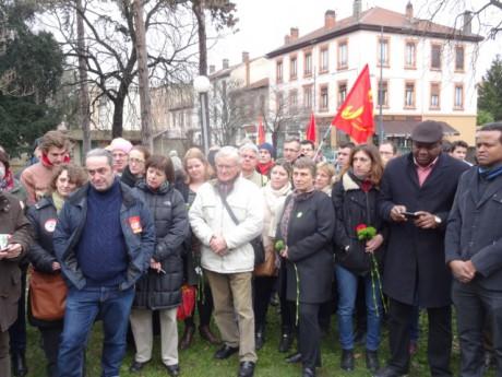 Les manifestants réunis au Parc des droits de l'Homme - LyonMag