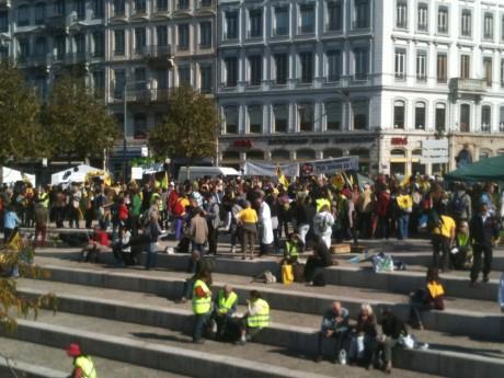 Les militants mobilisés à Lyon samedi après-midi - LyonMag.com