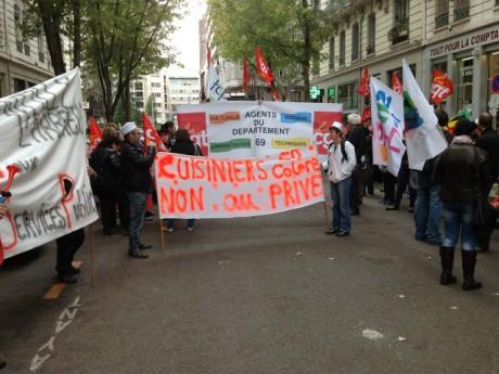 Manifestation jeudi matin devant le Conseil général - Photo Lyonmag.com