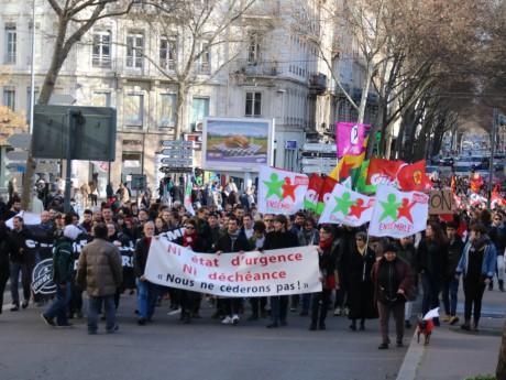 Un rassemblement en février contre l'état d'urgence - LyonMag