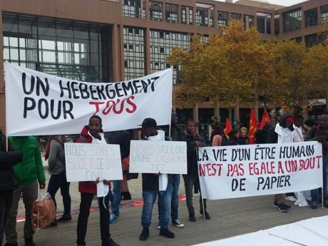 Une précédente manifestation à Lyon de soutien aux migrants - LyonMag