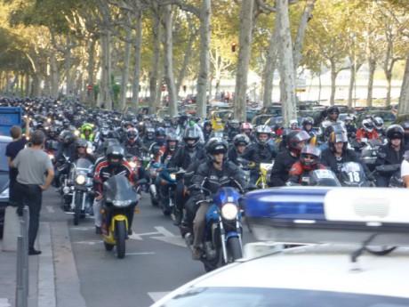 Les motards dans les rues de Lyon samedi après-midi - LyonMag.com