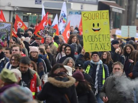 Une précédente manifestation contre la réforme des retraites - Lyon