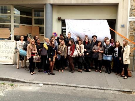 Les étudiants de Wesford Villeurbanne lors d'une manifestation - LyonMag