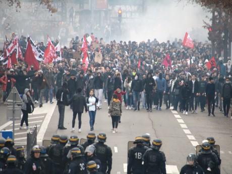 La manifestation lycéenne de vendredi dernier à Lyon - LyonMag