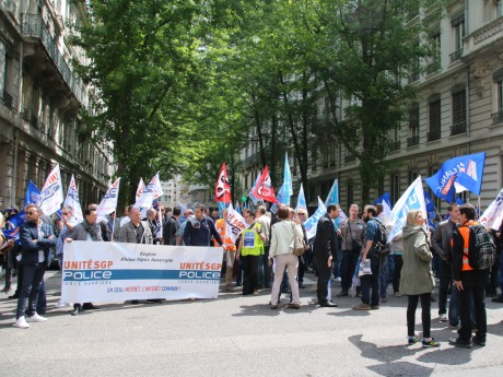 400 policiers ont manifesté à Lyon - Lyonmag.com