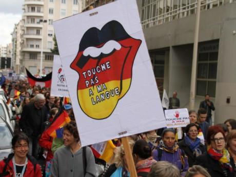 300 profs, notamment d'Allemand, ont manifesté à Lyon - LyonMag.com