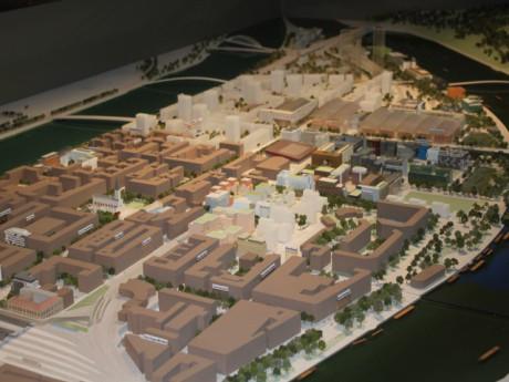 Les bâtiments blancs de ce plan du quartier de Confluence sont ceux de la phase 2 - LyonMag