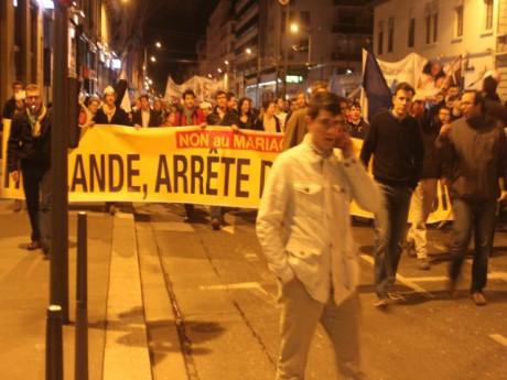 Les manifestants vendredi soir à Lyon - LyonMag.com