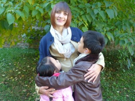 Marie et ses deux enfants - DR