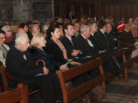 Michel Havard a notamment assisté à la messe - LyonMag