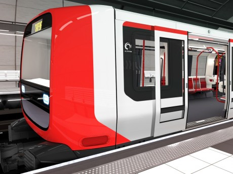 Extérieur d'une nouvelle rame du métro lyonnais - DR