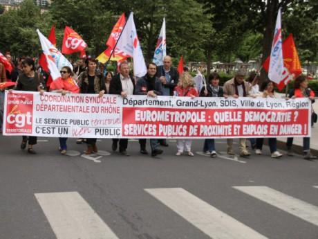 Les agents de la Métropole ont manifesté ce mardi à Lyon - LyonMag.com