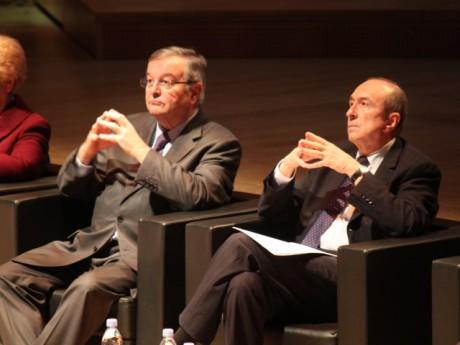 Michel Mercier et Gérard Collomb vendredi soir - LyonMag.com