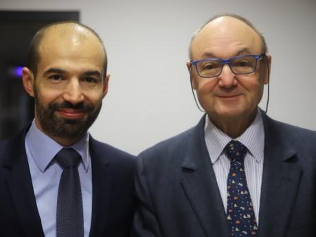 Sébastien Michel et Gérard Collomb - LyonMag