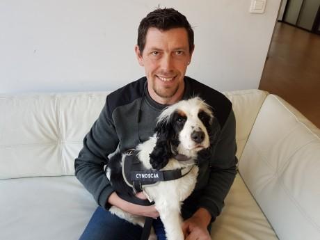 Olivier Gremaud et sa chienne Milka