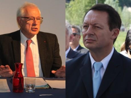 Philippe Meirieu (gch) et Thierry Braillard (drt)