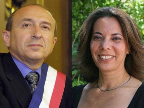 Gérard Collomb et Fatiha Benahmed - Photos DR