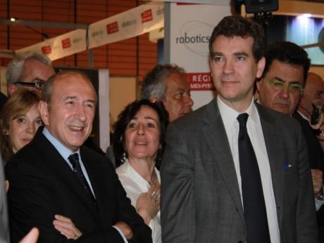 Arnaud Montebourg a visité le salon aux côtés de Gérard Collomb - LyonMag.com