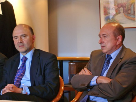 Pierre Moscovici et Gérard Collomb. Photo LyonMag.com