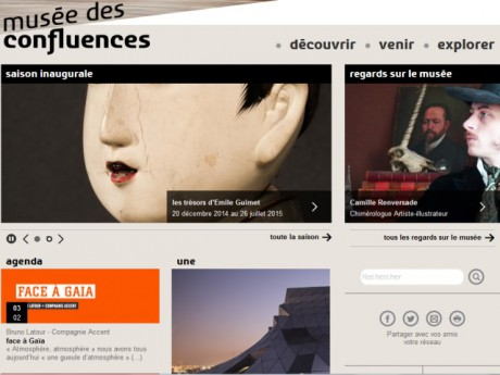 capture d'écran du site internet museedesconfluences.fr - DR