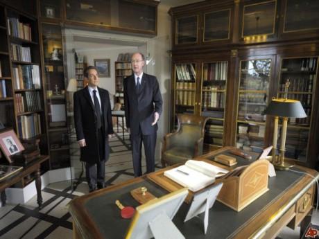 Nicolas sarkozy en compagnie d'Yves de Gaulle - DR