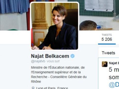 Le compte Twitter de Najat Vallaud-Belkacem - DR Twitter