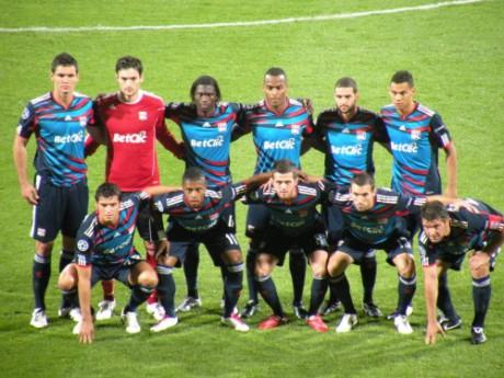 Equipe lyonnaise en Ligue des Champions. Septembre 2010. Photo LyonMag.com